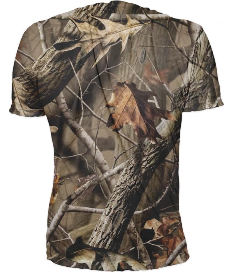 Мъжка тениска  с вълк на камуфлаж